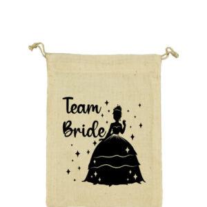 Team Bride Princess lánybúcsú – Vászonzacskó közepes
