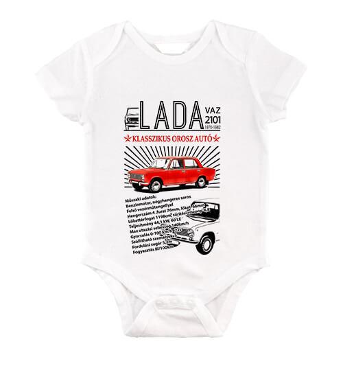 Baby body Lada 2101 fehér