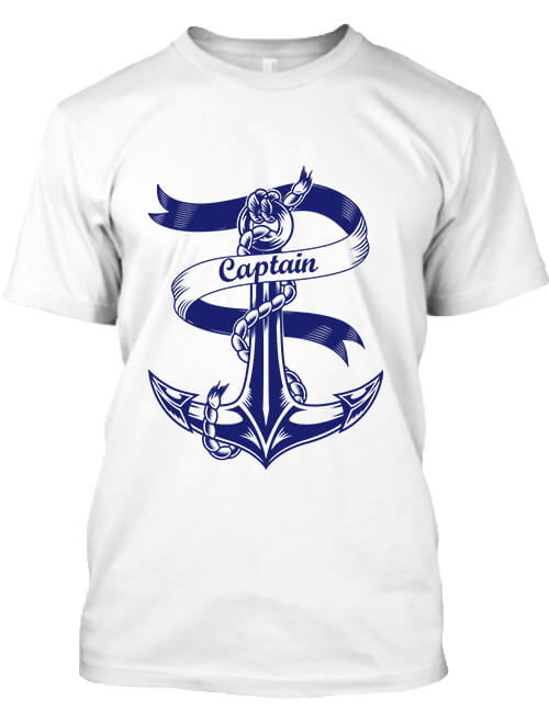 Férfi póló Captain Vasmacska fehér
