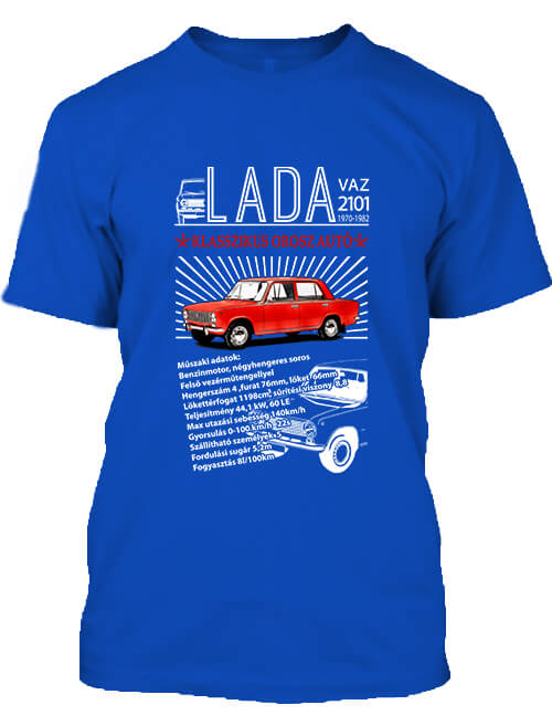 Férfi póló Lada 2101 királykék