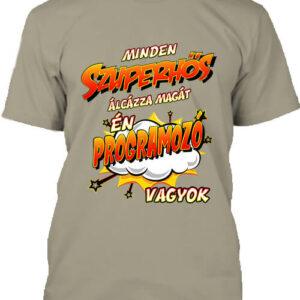 Szuperhős programozó – Férfi póló