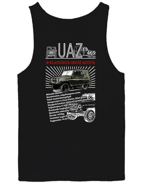 Férfi ujjatlan póló UAZ 469 fekete