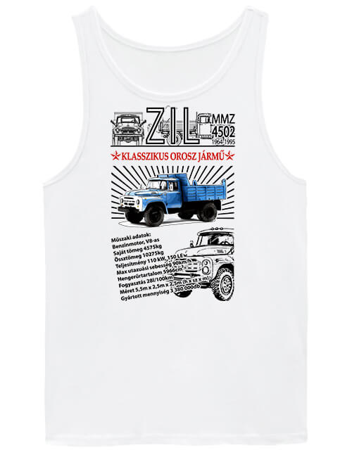 Férfi ujjatlan póló ZIL MMZ 4502 fehér