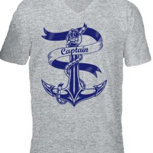 Captain Vasmacska – Férfi V nyakú póló