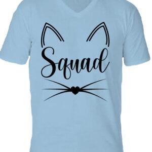 Cica squad – Férfi V nyakú póló