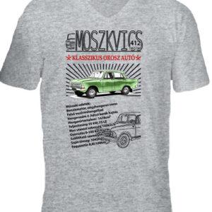 Moszkvics 412 – Férfi V nyakú póló