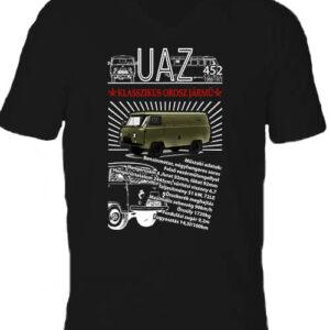UAZ 452 katonai – Férfi V nyakú póló