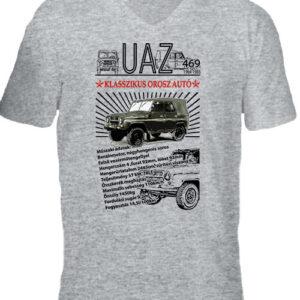 UAZ 469 – Férfi V nyakú póló