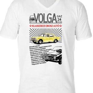 Volga M24 – Férfi V nyakú póló