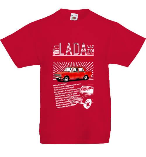 Gyerek póló Lada 2101 piros
