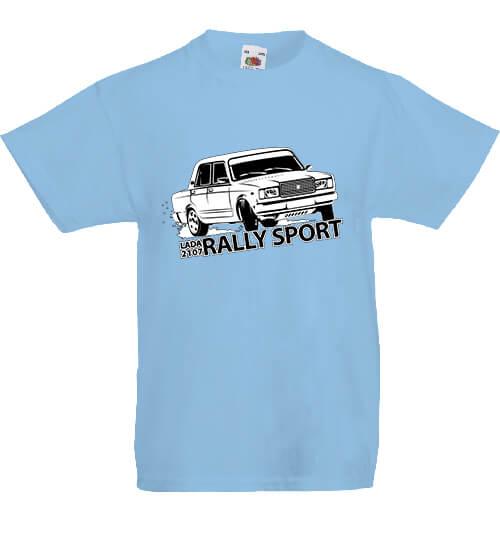Gyerek póló Rally Lada égkék