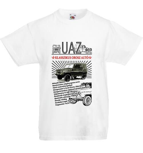 Gyerek póló UAZ 469 fehér