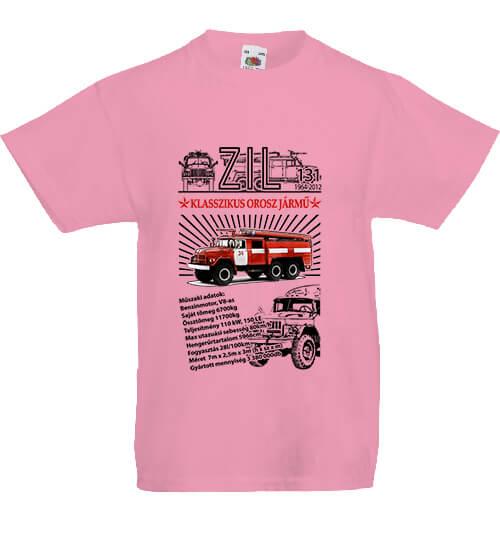 Gyerek póló ZIL 131 tűzoltó pink