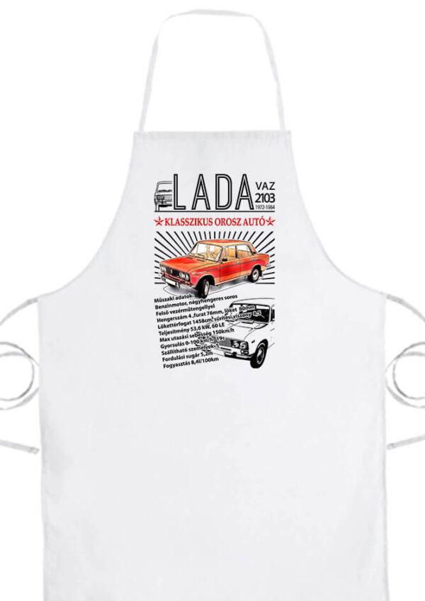 Kötény Lada 2103 fehér