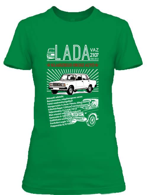 Női póló Lada 2107 élénkzöld