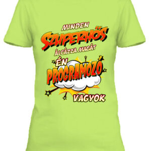 Szuperhős programozó – Női póló