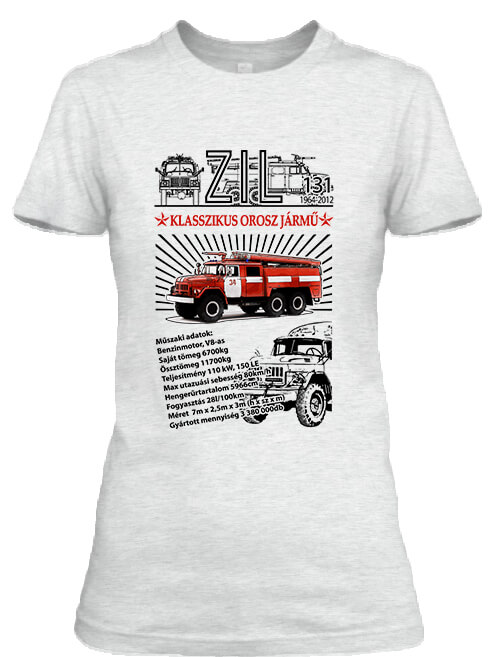 Női póló ZIL 131 tűzoltó hamuszürke