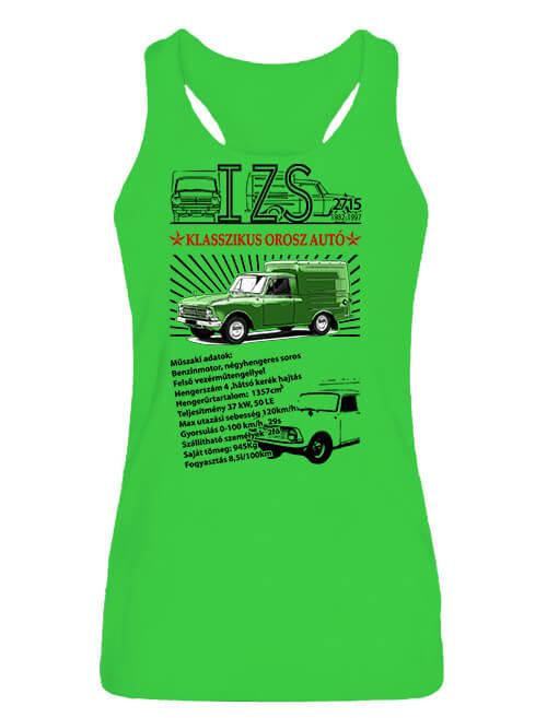 Női ujjatlan póló Izs 2715 lime