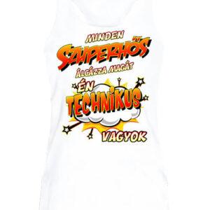 Szuperhős technikus – Női ujjatlan póló