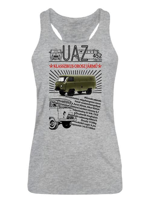 Női ujjatlan póló UAZ 452 katonai szürke