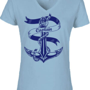 Captain Vasmacska – Női V nyakú póló