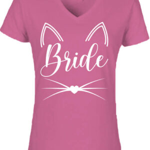 Cica bride – Női V nyakú póló