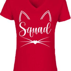 Cica squad – Női V nyakú póló