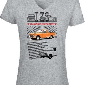 Izs 2715 pick up – Női V nyakú póló