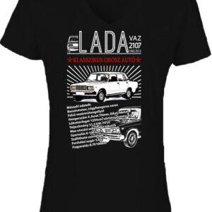 Lada 2107 – Női V nyakú póló