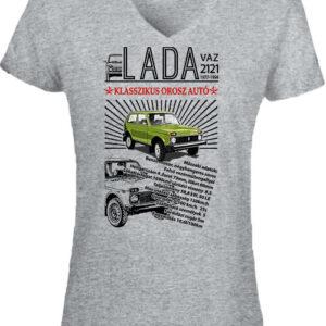 Lada Niva – Női V nyakú póló