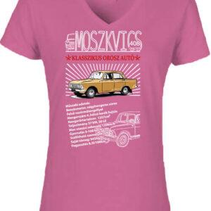 Moszkvics 408 – Női V nyakú póló
