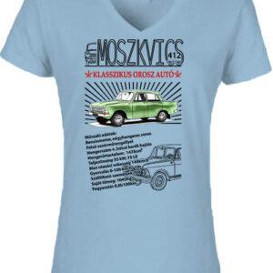 Moszkvics 412 – Női V nyakú póló