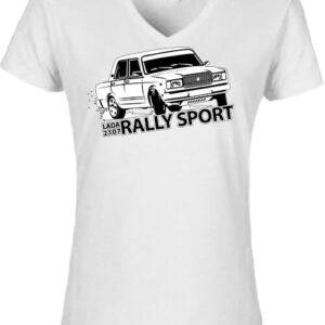 Rally Lada – Női V nyakú póló