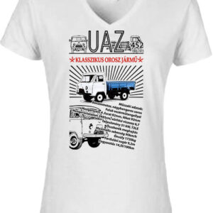 UAZ 452D – Női V nyakú póló