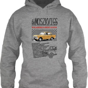 Moszkvics 408 – Unisex kapucnis pulóver