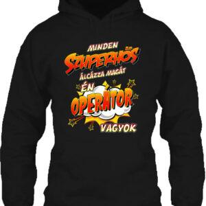 Szuperhős operátor – Unisex kapucnis pulóver