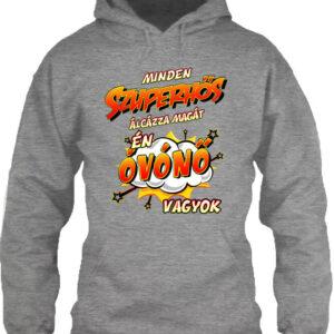 Szuperhős óvónő – Unisex kapucnis pulóver