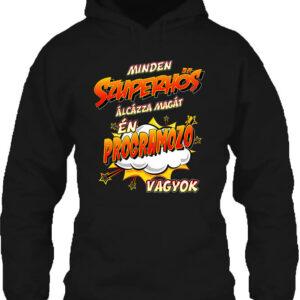 Szuperhős programozó – Unisex kapucnis pulóver