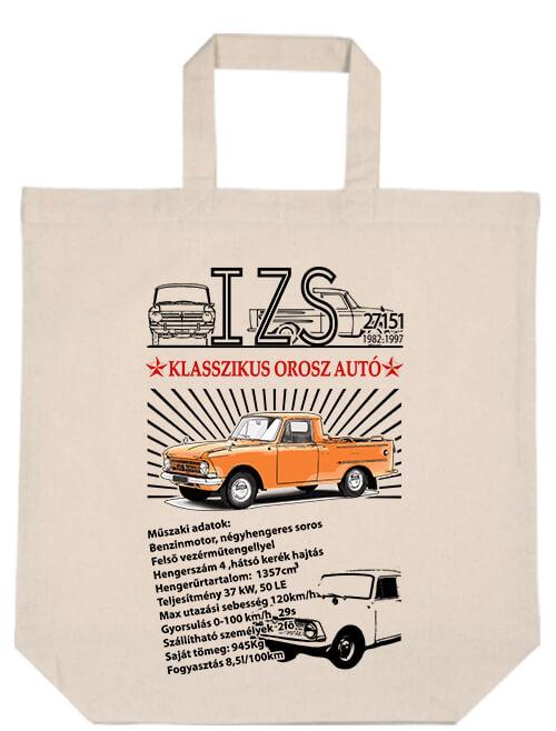 Rövid fülű táska Izs 2715 pick up natúr