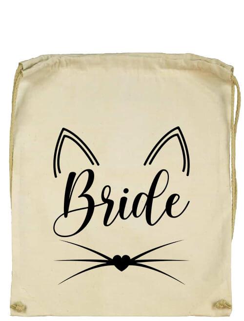 Tornazsák Cica Bride natúr