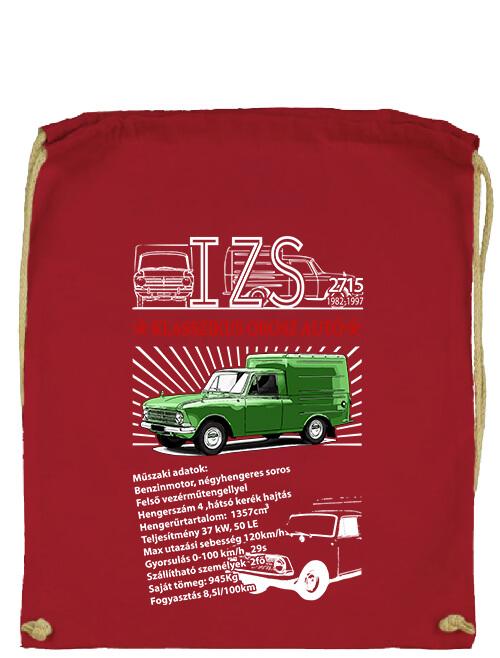 Tornazsák Izs 2715 piros