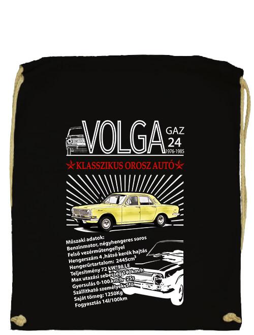 Tornazsák Volga M24 fekete