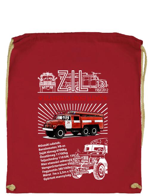 Tornazsák ZIL 131 tűzoltó piros