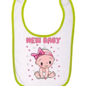 New baby girl – Baba előke