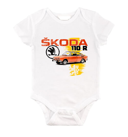 Baby body Skoda 110 R fehér