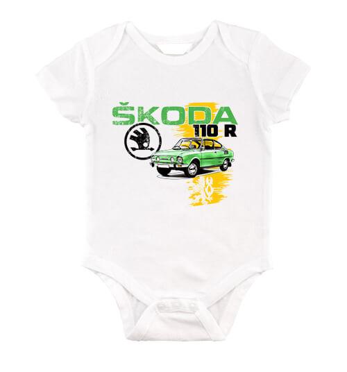 Baby body Skoda 110 R zöld fehér