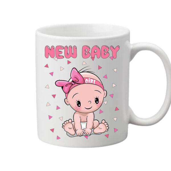 Bögre New baby girl fehér