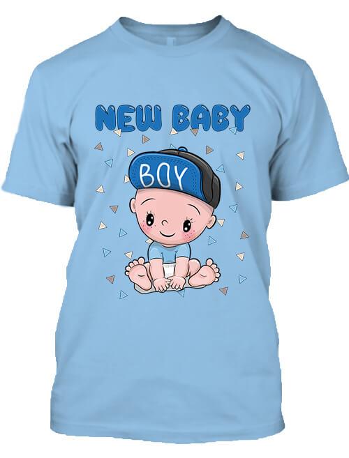 Férfi póló New baby boy égkék