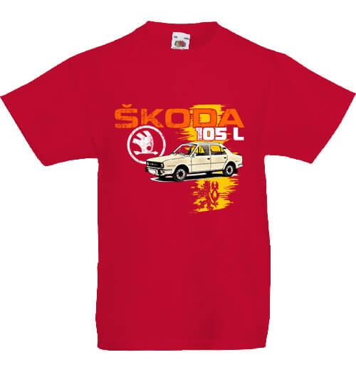 Gyerek póló Skoda 105 L piros