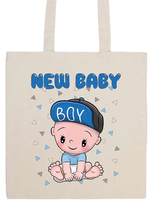 Hosszú fülű táska New baby boy natúr